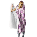 3D Diamond Full-Print Hooded Blanket