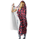 3D Alice in the wonderful land  Full-Print Hooded Blanket