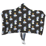 3D Baby Unicorn and Cloud Prince Full-Print Hooded Blanket