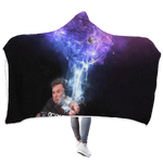 3D Elon Musk Smoking Out Space Full-Print Hooded Blanket