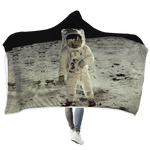 3D Astronaut Taking A Photo Outspace Full-Print Hooded Blanket