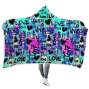 3D Love Is In The Air  Full-Print Hooded Blanket