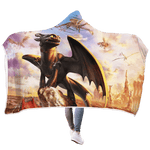3D How To Train Your Dragon  Full-Print Hooded Blanket