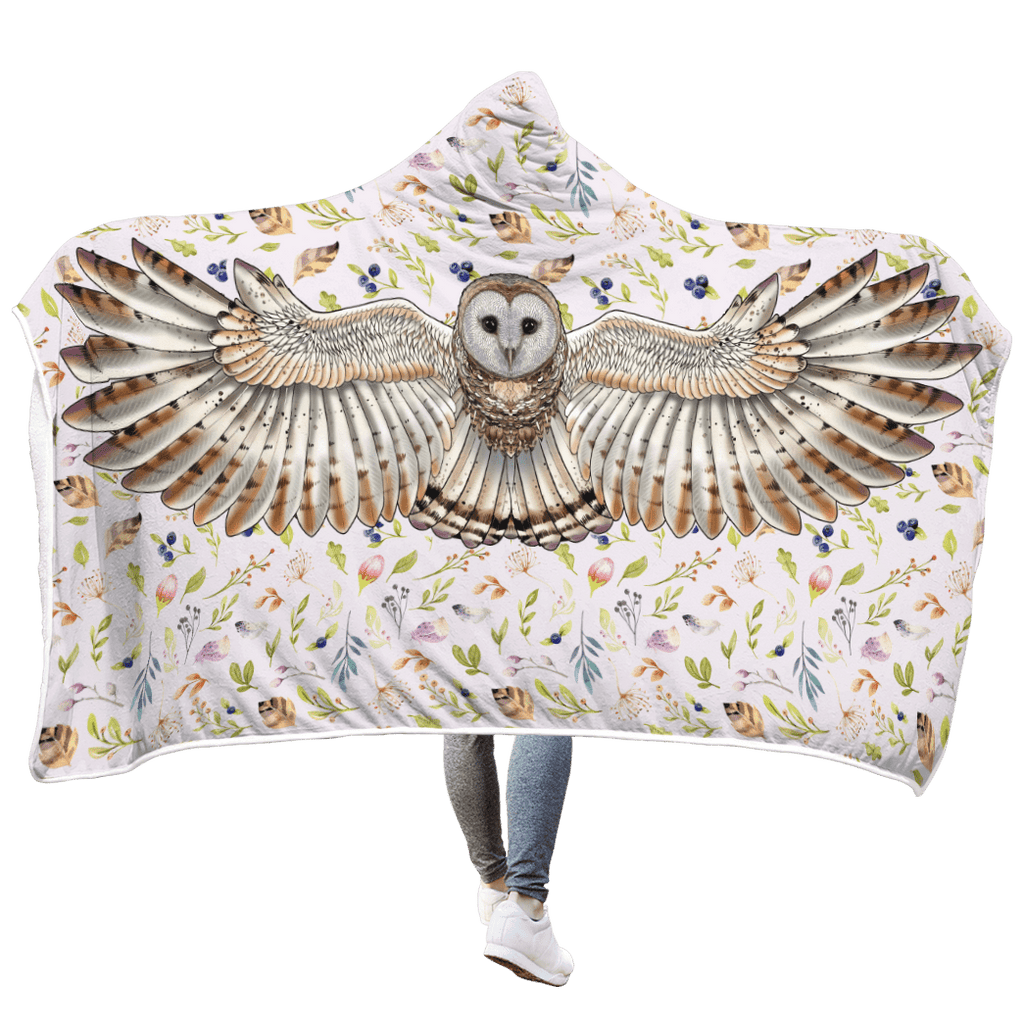 Owl Custom Hooded Blanket