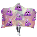 3D UNICORN  Full-Print Hooded Blanket
