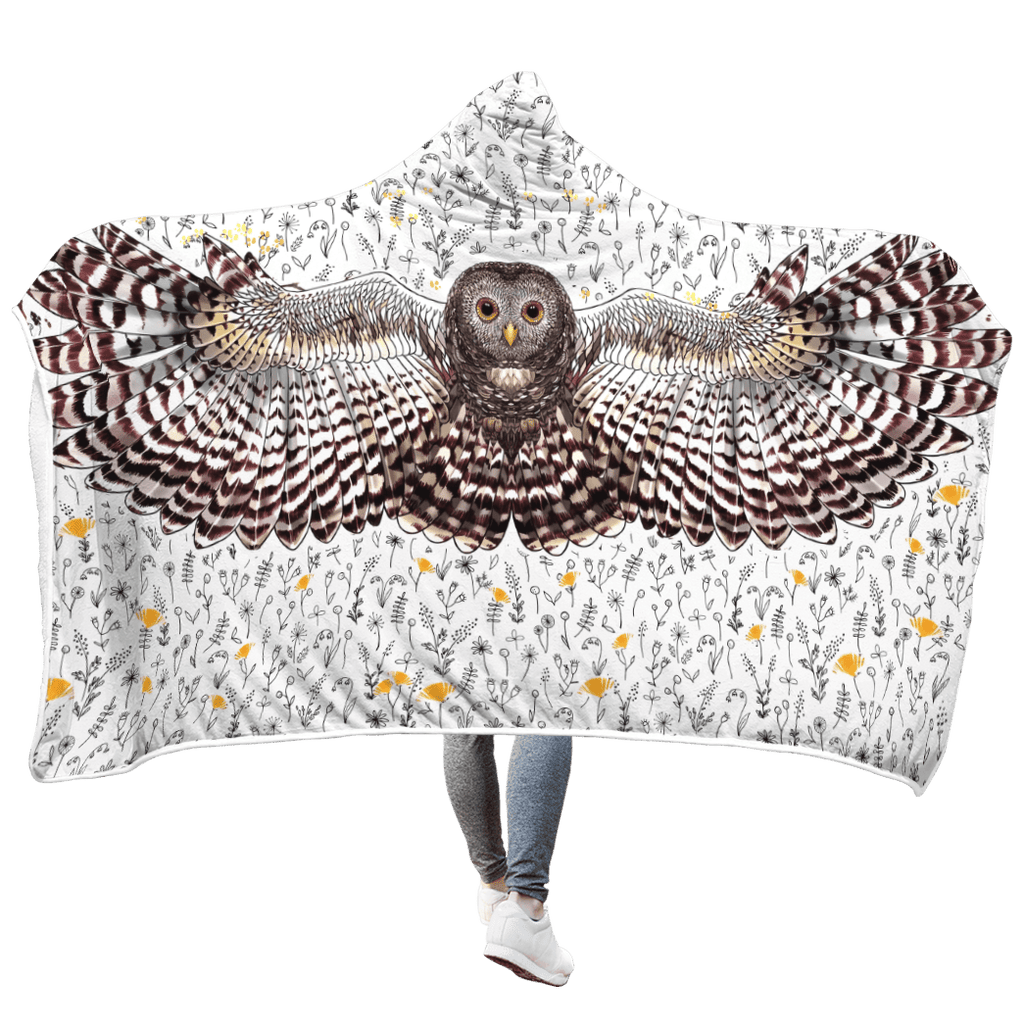 Beautiful Owl Custom Hooded Blanket