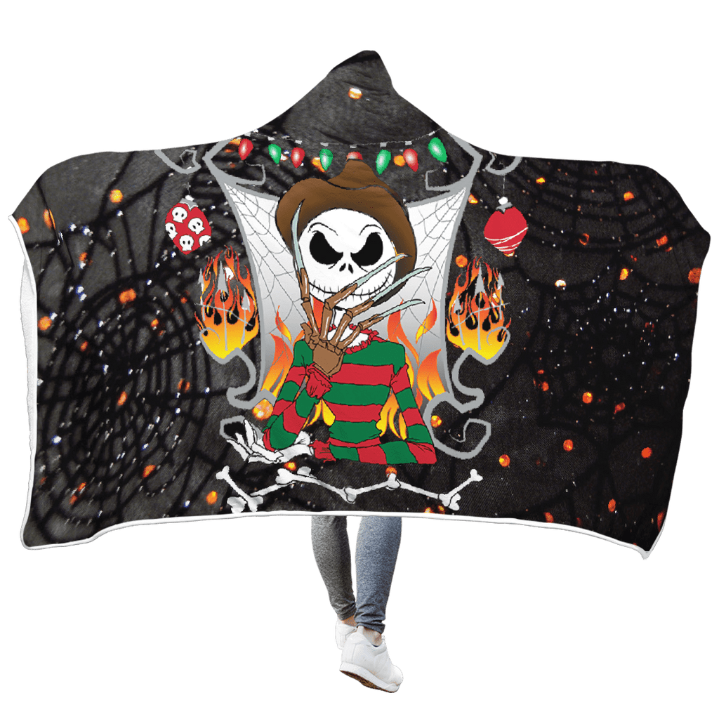 Nightmare before christmas Custom Hooded Blanket