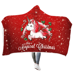Gearhuman 3D Christmas Unicorn Custom Hooded Blanket