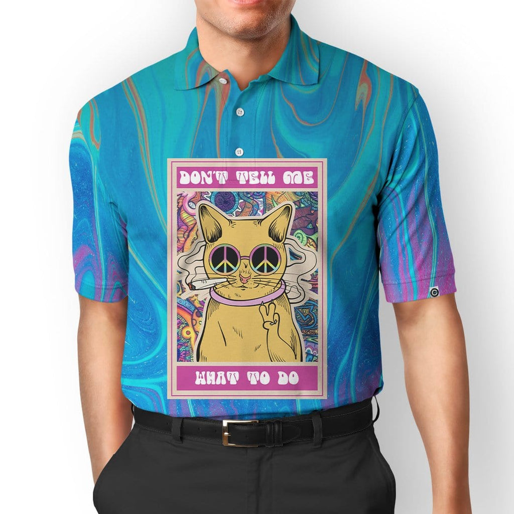 Gearhuman 3D Hippie Cat Custom Polo T-Shirts Apparel