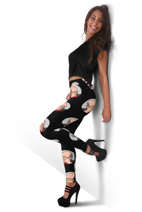 3D Patrick Stewart Professor X facepalm Full-print Leggings