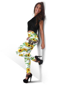 3D  Elephant with flower  Full-print Leggings
