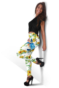 3D  Animal  with flower  Full-print Leggings