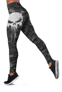 3D Skull  Full-print Leggings