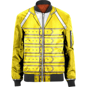 3D Bohemian rhapsody Nylon-blend Bomber Jacket Apparel