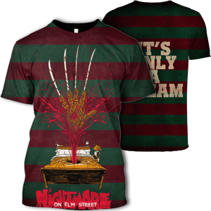 Gearhuman 3D Nightmare on the Elm street  Tshirt - Zip Hoodies Apparel