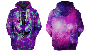 3D Galaxy Anchor Hoodie  Tshirt Apparel