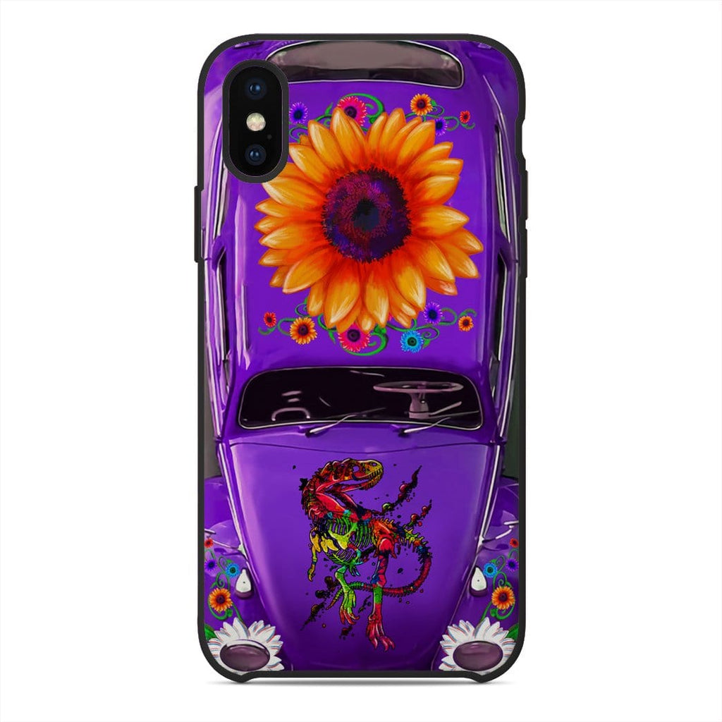Gearhuman 3D Saurus Hippie Vochol Custom Glass Phone Case Cover