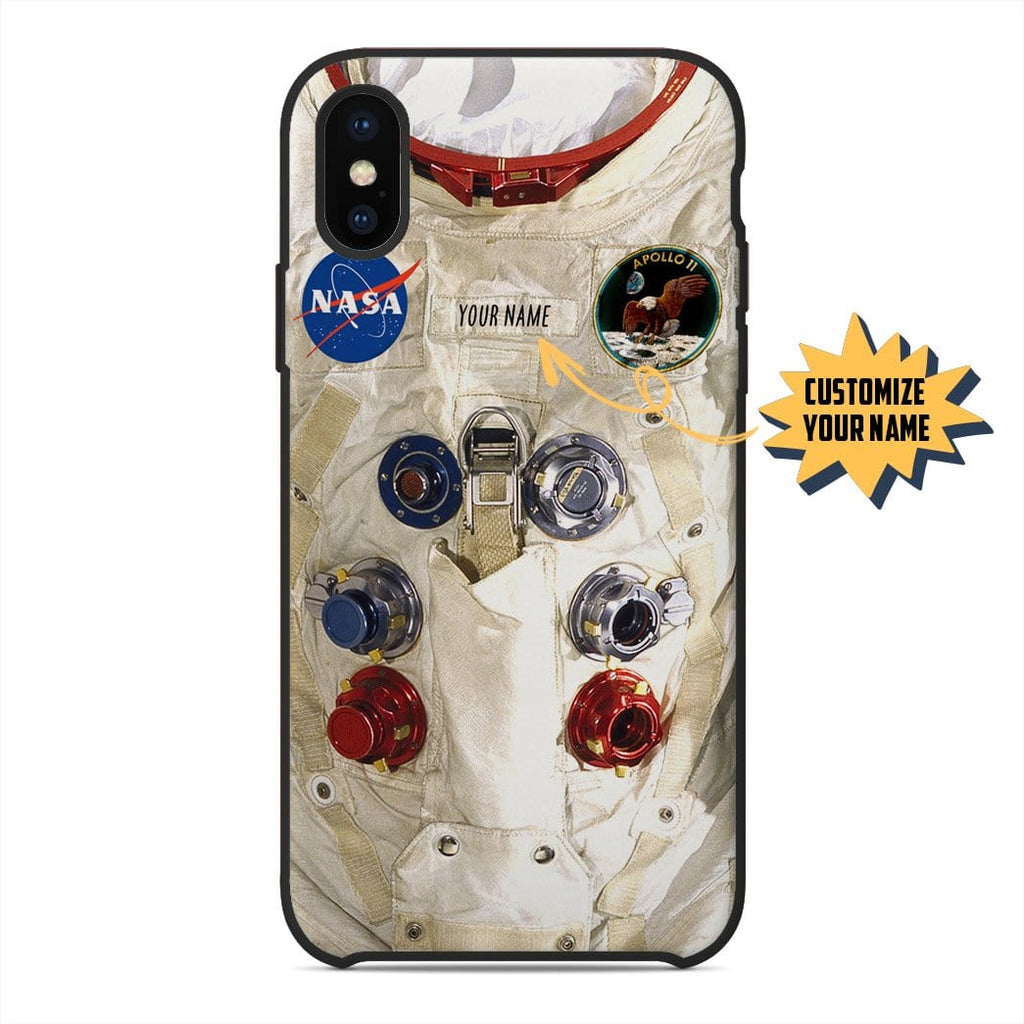 Gearhuman 3D Space Suit Custom Name Glass Phone Case Cover