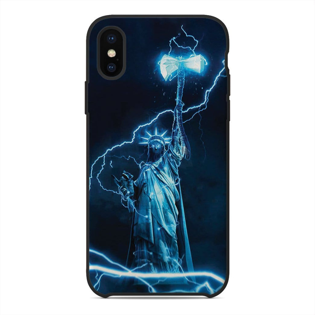 Gearhuman 3D Custom Statue of Liberty Thor Glass Phone Case Cover