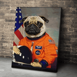 Puggy Dog Astronaut Canvas