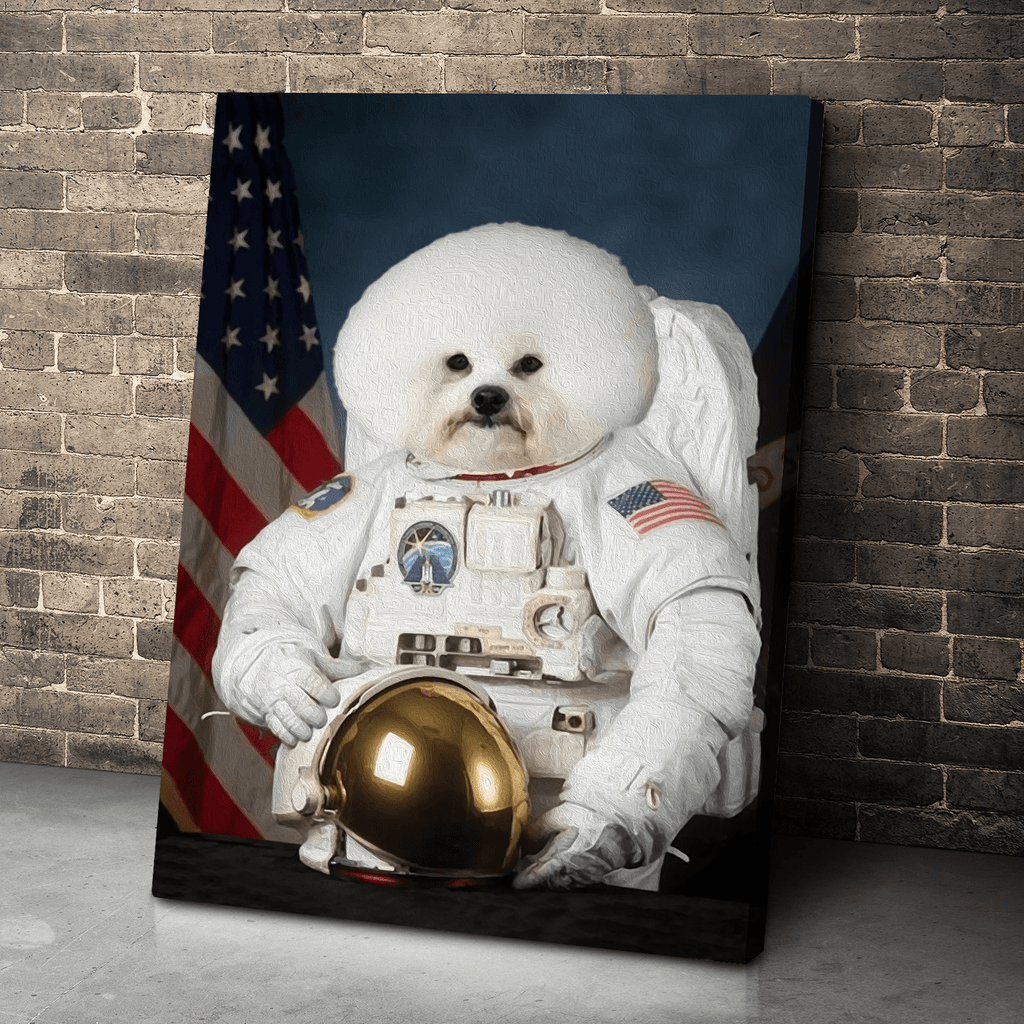 Gearhuman White Dog Astronaut Canvas