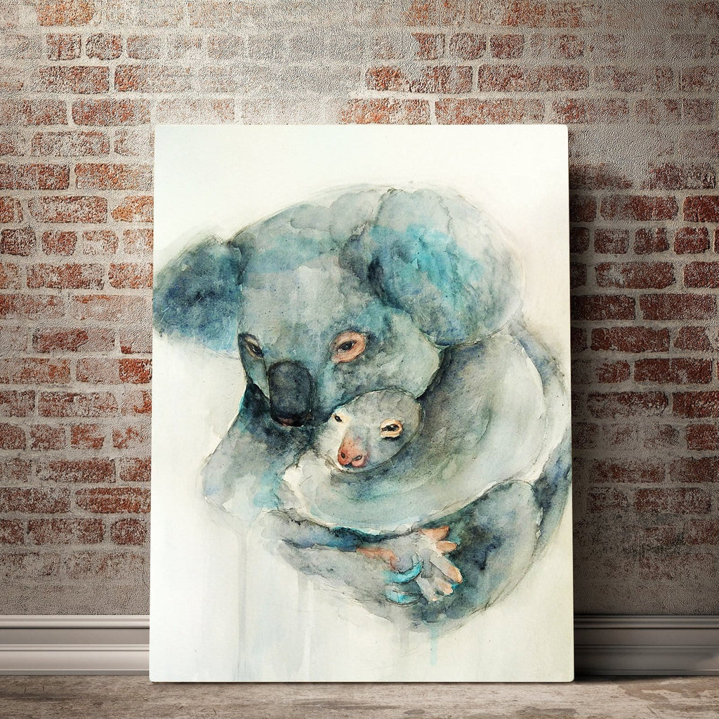 I Will Protect You Koala Custom Canvas