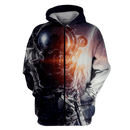 3D Fantastic Astronaut In Space Full-Print T-shirt - Hoodie