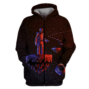 3D Astronaut  skull in space  Full-Print T-shirt - Hoodie Apparel