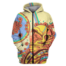 3D Astronaut in flower background  Full-Print T-shirt - Hoodie