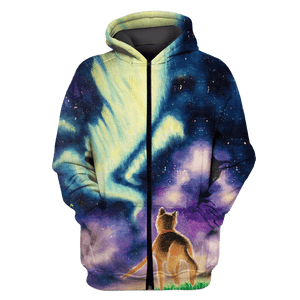 Gearhuman 3D Yellow CAT  Tshirt - Zip Hoodies Apparel