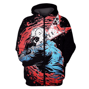 Gearhuman 3D Jason Voorhees  Friday the 13th  Hoodies - Tshirt Apparel