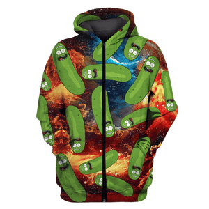 Gearhuman 3D CUCUMBER Tshirt - Zip Hoodies Apparel