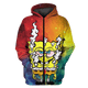 Gearhuman 3D Cannabis Spongebob  Tshirt - Zip Hoodies Apparel