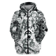 Gearhuman 3D Horror Hippie Tshirt - Zip Hoodies Apparel