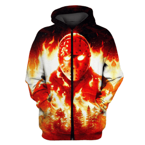 Gearhuman 3D Friday the 13th Jason Voorhees   Tshirt - Zip Hoodies Apparel
