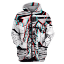 3D Astronaut  in the space with a gun  Full-Print T-shirt - Hoodie