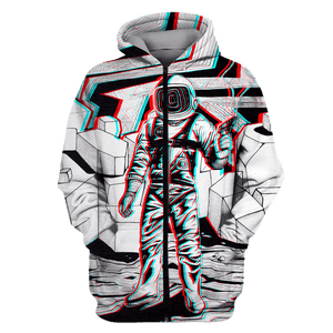 3D Astronaut  in the space with a gun  Full-Print T-shirt - Hoodie Apparel