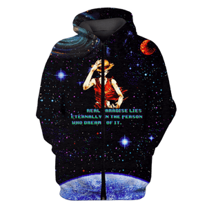 Gearhuman 3D  real paradise lies eternally in the person who dreams of it Tshirt - Zip Hoodies Apparel