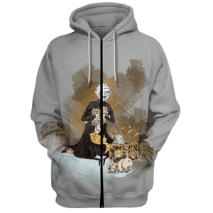 Gearhuman 3D Jason Voorhees With Cat  Tshirt - Zip Hoodies Apparel
