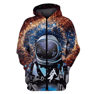 3D  Astronaut  in the space Full-Print T-shirt - Hoodie Apparel