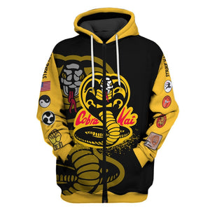 3D Cobra kai Full-Print T-shirt - Hoodie Apparel