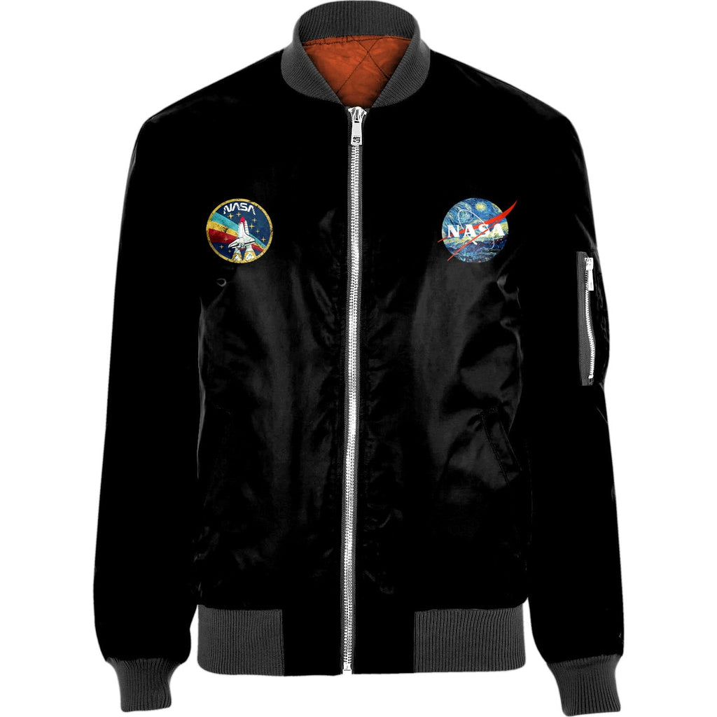 NASA Nylon-blend Bomber Jacket Apparel