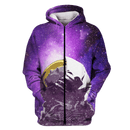 3D Astronut Looking Up Galaxy Full-Print T-shirt - Hoodie