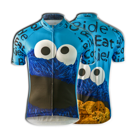 "Cookie Monster ""Ride Bike Eat Cookie"" Cycling Jersey (Men's)"