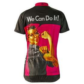Rosie the Riveter Pink Cycling Jersey (women's)