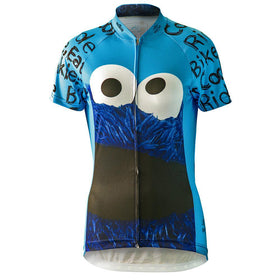 "Cookie Monster ""Ride Bike Eat Cookie"" Cycling Jersey (Women's)"