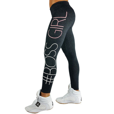 Black Fade Boss Girl Activewear Leggings