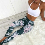 Spring Floral Yoga Leggings