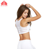 White Zipper Sports Bra