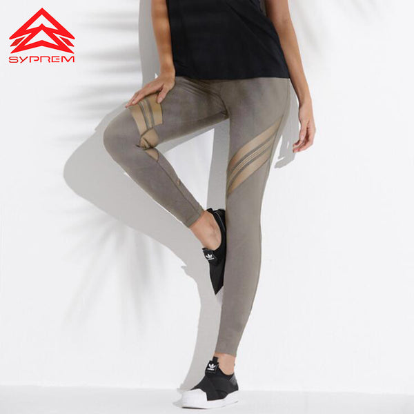 Mesh Stitching Goddess Yoga Leggings
